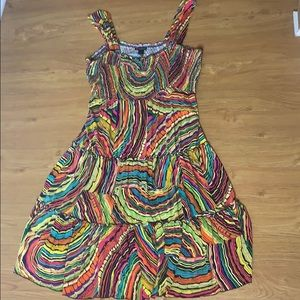 New Directions Multicolored Mid-length Dress Large